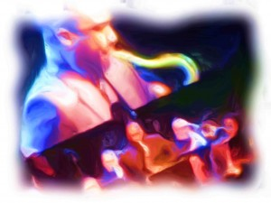 saxophonist_Painting